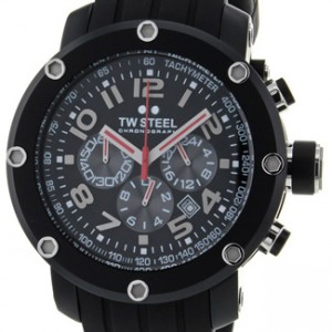 TW Steel Grandeur Tech Black PVD Stainless Steel Mens Watch - TW134-dial