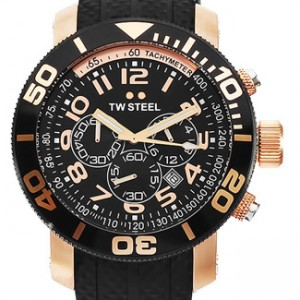 TW Steel Grandeur Rose Gold Ion-plated SS Mens Watch - TW93-dial